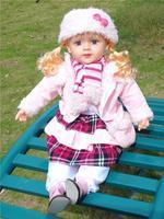 24 inch 60cm English Russian Spanish intelligent dialogue dolls talking Bobbi doll maternal