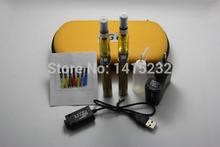 Ego CE4 Clearomizer Double Kits Battery 2pcs E-Cigarette Zipper Case 2 Atomizers 2 ego t Batteries 8 colors