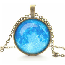 art picture galaxy pendant necklace glass cabochon necklace antique Bronze chock necklace women necklace jewelry fashion