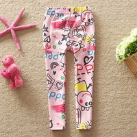 Neat 100% Cotton children pants baby girls autumn/spring peppa pig pants fashion girls baby & kids leggings G4219#