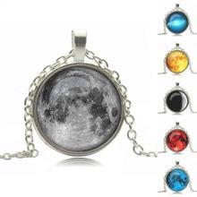 glass cabochon necklace pendant necklace art picture antique Bronze silver chain necklace women necklace jewelry fashion  2014