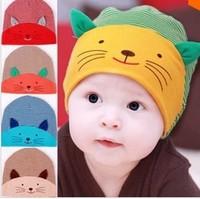New Baby Cap Fashion Infant Hat Boys & Girls Skull Cat Hats Kids Hats Children Cotton Homies Animal Caps free shipping
