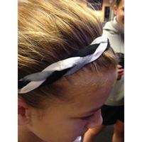 (6 piece/lot) Sports Braided Elastic Headbands for Girls Softball