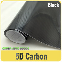 Wholesale 3layers Glossy 5D Carbon Fibre Vinyl Wrap Car Wrapping Film Shiny Carbon 5D As Real Carbon Air Free Size:1.52*20M/Roll