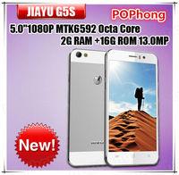 Original JIAYU G5S Octa Core 3G Smartphone MTK6592 2G RAM 16G ROM 4.5 Inch Rear 13.0MP Dual Camera Dual SIM GPS