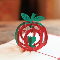 Christmas Fruit  Handmade Creative Kirigami & Origami Pop UP Christmas Card Free Shipping(set of 10)