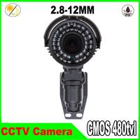 """1/3"""" CMOS 480tvl camera with 36pcs IR leds 2.8-12mm varifacal lens waterproof indoor/Outdoor CCTV Camera"""