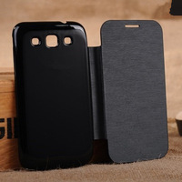 New Original Slim Side Battery Housing Flip PU Leather Back Cover Case for Samsung Galaxy Win i8552 8552 Mobile Phone Cases