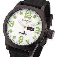 Casual quartz watch men sports watches men luxury brand military wristwatches rubber band men watch  relogio masculino