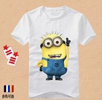 2014 animated cartoon short sleeve T-shirt clothing children's clothing girl boy child