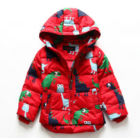 2014 winter boy girls child cartoon small thickening with a hood down coat 103108