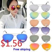 New Vintage Eyeglasses Women & Men Polarized Lenses Sunglasses Cycling Eyewear UV Protection seven Color metal Sun Glasses