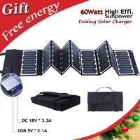 NEW Arrival! High Effi. 23.5% Sunpower folding solar panel portable solar charger for laptop,tablet,car battery,cell phones
