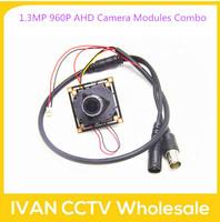 Popular 1.3MP 960P AHD Camera Modules Combo (1.3Megapixel Main Board +MTV IR Cut + 3Megapixel MTV  2.8mm lens + Simple Cable)