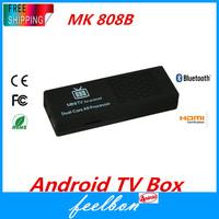 Bluetooth MK808B Dual Core Android 4.1 TV BOX Rockchip RK3066 Cortex-A9 Mini PC Smart TV Stick