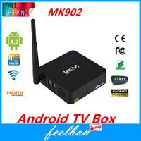RKM MK902-8G Google Android TV Box Mini PC, RK3188 Quad Core Cortex-A9 1.6GHZ, Android 4.2 OS, 2G RAM, 8G ROM, Bluetooth