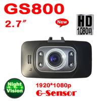 by post 1pc 2013 New GS8000 Full HD 1920x1080P 2.7 inch LCD G-Sensor HDMI 30FPS IR Night Vision dvr