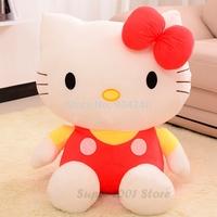 Stuffed 20cm Plush Hello Kitty Soft 100% Cotton Doll Toys Kids Baby Girl Toy Party Birthday Christmas Gift