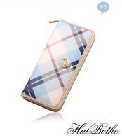 NEW Korean teddy bear Brand design wallet  zipper women Long leather Wallets candy color purses Wholesale clutch wallets