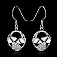 E576 2014 New supplies earrings fashion high quality Rhinestone Crystal Geometry Earrings  Ohrring/boucle/brinco/pendiente