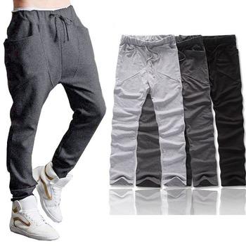 Feitong 2 Styles 2015 New Fashion Men Boy Harem Baggy Hip Hop Dance Sport Sweat Pants Slacks Trousers Free Shipping!