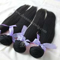 Unprocessed 6A Peruvian Virgin Hair Straight Human Extensions 4 Bundles Discounted Peruvian Virgin Hair Weaves,No Shedding Weft