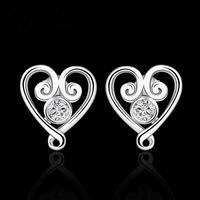 E5792014 New supplies earrings fashion high quality Heart Crystal Earrings fashion high quality Ohrring/boucle/brinco/pendiente
