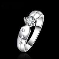 R609-8 925 Silver Stamp new design Crystal ring fashion finger ring for lady Woman anneau / anel / anneau / anillo