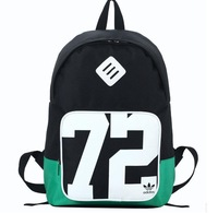 Korean version brand New printing  backpack male and female students school bag hit color backpacks FB013