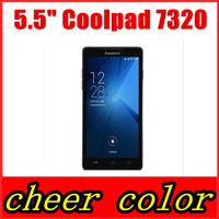 "original coolpad 7320 Android 4.3 phone 5.5"" MT6592 otca-core 1GRAM+8G ROM 13MP WCDMA GPS Russian Spanish Hebrew menu"