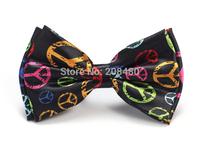 "New Arrival Gentlemen Bow ties Fashion ""Rainbow Peace"" Pattern Bow tie Men's Unisex Tuxedo Dress Bowtie Party Tie"