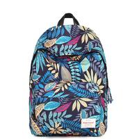 New backpack Korean printing Canvas Backpack male student bag, computer bag female college wind travel bag