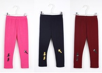 Free shipping warm leggings for girls 2014 new 6color High-quality kids winter fleeceant  leggings baby retail