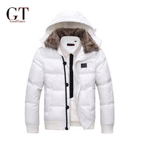 GT New 2014 men down Parka keep warm coat Men's coat Winter overcoat Outwear Winter jacket hooded thick fur jackets outdoor GT22
