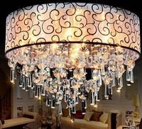 Led crystal circle ceiling light living room lights fashion romantic bedroom lights crystalchandelier lamp 015
