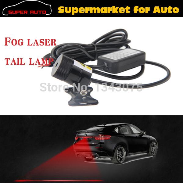 Anti Rear-end Car Rear Led Laser Fog Light Warning Light Auto License Plate Light Rear Tail Lamp 12V 24V Waterproof Car Bus(China (Mainland))