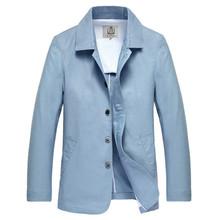 E-artist Men Trend Turn Down Collar Jacket Men Linen&Cotton Light Color Jacket Office Party Coat Spring Autumn Plus Size 5XL J03