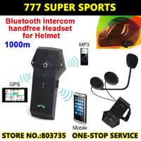 Newest Full Duplex Bluetooth Intercom Waterproof Motorcycle&Ski Helmet Headsets Hand Free Handphone Support NFC Free Shipping