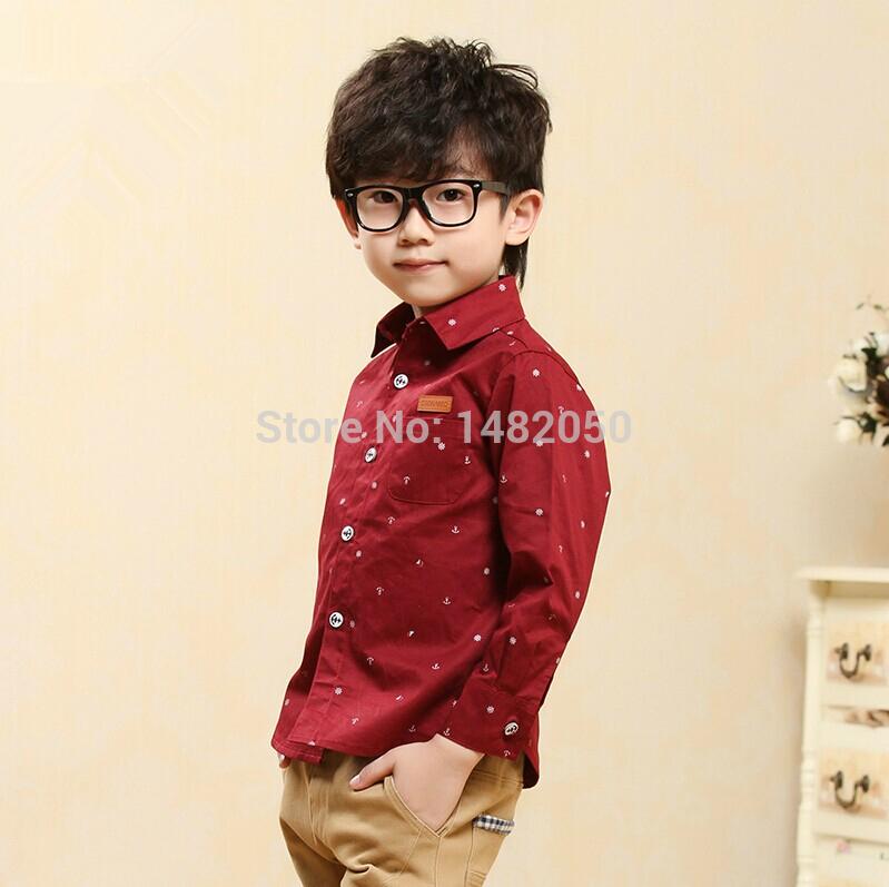 2014 figlio maschio shirt sottile lungo- manica bambino top dei bambini camicia abbigliamento primavera e autunno