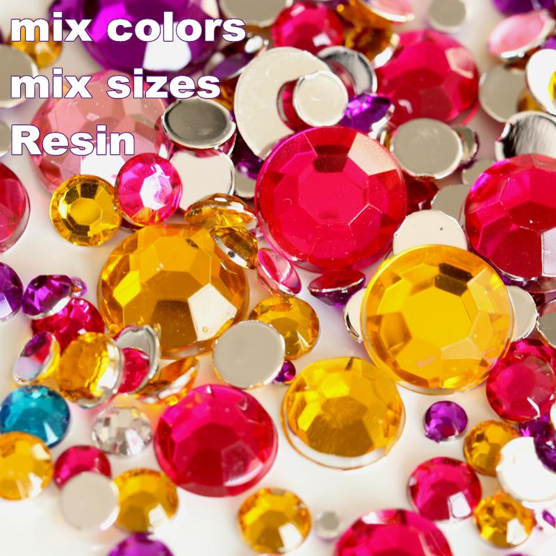 5000pcs/bag Mix Sizes Mix Colors Nail Art Rhinestones Non HotFix Rhinestones For Nail Art Decorations,Garment Accessories Y2786(China (Mainland))