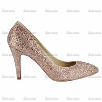 2014 New Urban Beauty encryption Czech champagne diamond drill pointed shoes female nightclub Princess Banquet Red Bottom shoes