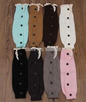 Retail girls leg warmers lace trim boot cuffs button down boot socks knitted leg warmers for children
