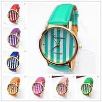 New Fashion Leather GENEVA Watch For Ladies Women Dress Watch Quartz Watches Wristwatches Relogio Reloj