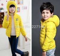 2014 winter children clothing girl boy cartoon long-sleeve baby kid clothes goose Down Parkas hooded hooody zipper outwear coat