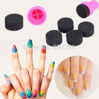 1 Set  Manicure Sponge Nail Art Stamper Tools Set Fashion Women Nail Gradient Sponge Stamper Tools Nail Art Sponges Manicure Set
