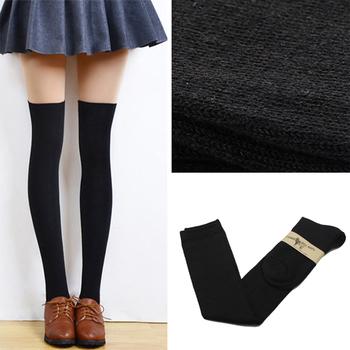 2015 4 цветов мода сексуальная бедренной кости высокие над коленом носки хлопка чулки для девушки дамы женщин