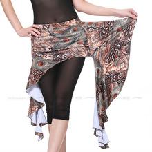 12pcs lot Women s Indian Belly Dance Peacock Printing Hip Scarf Waist Skirt Top Stage Dancewear