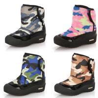 Quality children snow boots fashion camouflage waterproof antiskid Velcro army camo girls boy winter 2014 winter kids boots