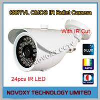 800TVL 20m/66ft Mini IP66 Waterproof IR CUT CCTV Bullet Analog Camera ICR Aptina CMOS 3.6/6/8/12mm Lens White Case Free Shipping