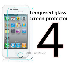 2015 new 0.3 Ultra Thin HD Clear Explosion-proof Tempered Glass Screen Protector Cover Guard Film for iPhone 4  4S Free Shipping(China (Mainland))